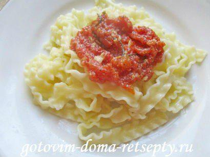 куриные тефтели с сыром и макаронами в томатном соусе 15