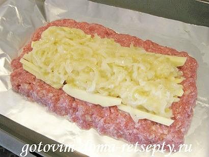 мясной рулет из фарша с картофельной начинкой 10