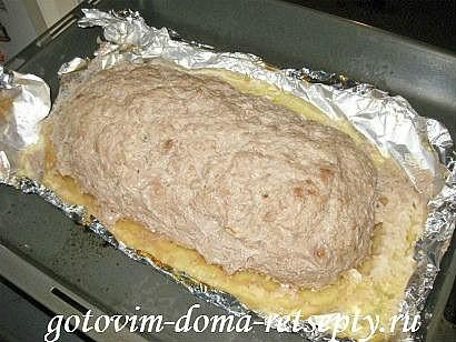 мясной рулет из фарша с картофельной начинкой 15