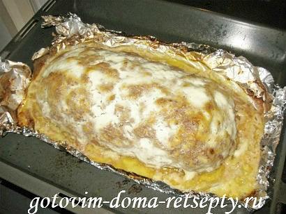 мясной рулет из фарша с картофельной начинкой 17