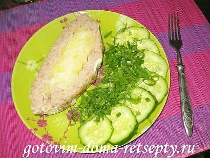 мясной рулет из фарша с картофельной начинкой 18