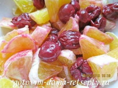 торт брауни с фруктами и ягодами 13
