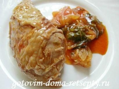 индейка в духовке с острым соусом 9