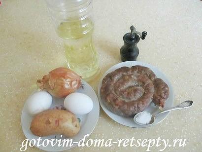 омлет с колбасой по рецептам испанской кухни 1