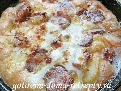 омлет с колбасой по рецептам испанской кухни 11