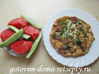 омлет с колбасой по рецептам испанской кухни 12