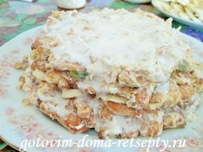 торт из печенья с бананами и киви без выпечки 8