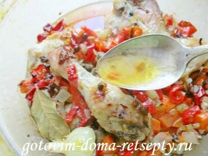 тушеная курица с овощами 11