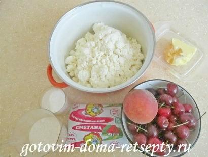 запеканка из творога рецепт с фруктами и ягодами 1