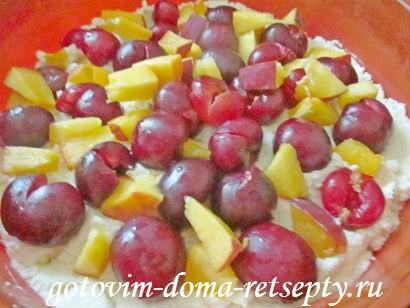 запеканка из творога рецепт с фруктами и ягодами 10