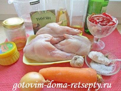 кролик тушеный в духовке с овощами 1