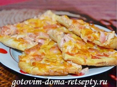 тонкая пицца пошаговый рецепт с фото 17