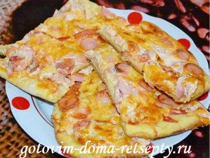 тонкая пицца пошаговый рецепт с фото