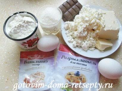 творожные кексы, рецепт с шоколадом 1