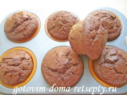творожные кексы, рецепт с шоколадом
