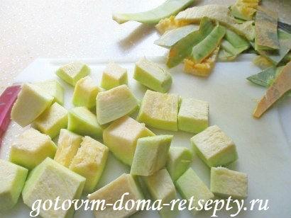 суп из тыквы с куриными фрикадельками 3