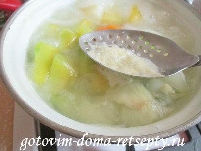 суп из тыквы с куриными фрикадельками 5