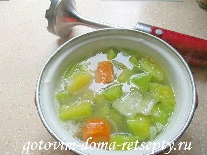 суп из тыквы с куриными фрикадельками 6