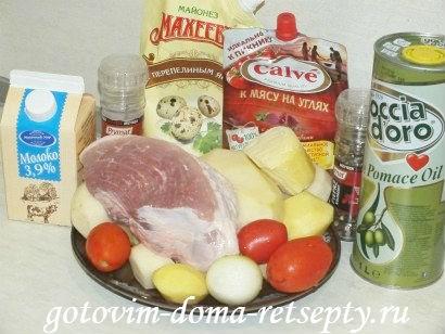 запеканка с мясом и картошкой в духовке, рецепт с фото 1