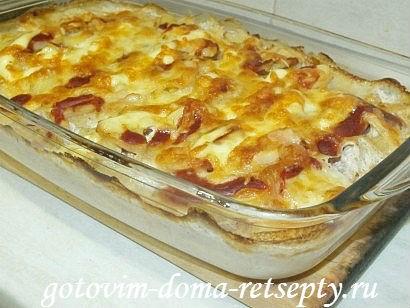 запеканка с мясом и картошкой в духовке, рецепт с фото 11