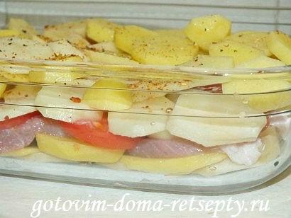 запеканка с мясом и картошкой в духовке, рецепт с фото 6