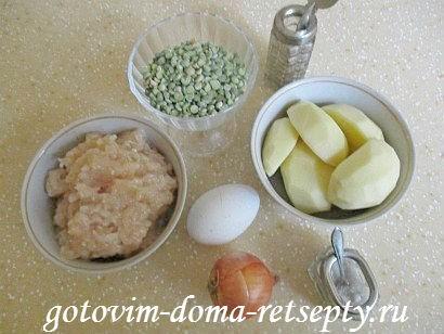 гороховый суп с куриными фрикадельками 1