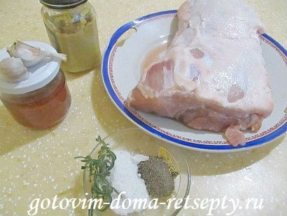 свинина в медово-горчичном соусе 1