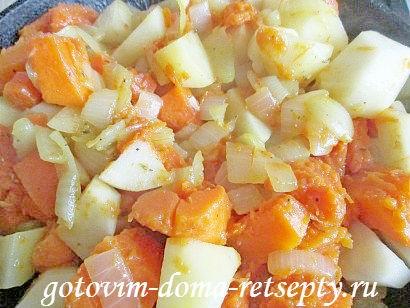 индейка с картошкой и тыквой, в духовке 17