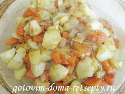 индейка с картошкой и тыквой, в духовке 19