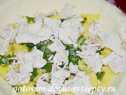 курник, пошаговый рецепт с фото 12