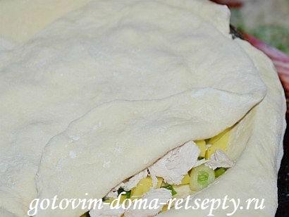 курник, пошаговый рецепт с фото 13