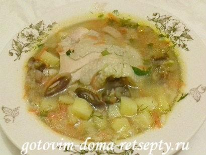 рисовый суп с курицей, рецепт 12