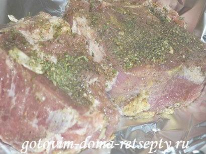 буженина из свинины в фольге 3