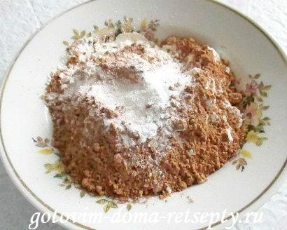шоколадный пирог в мультиварке 6