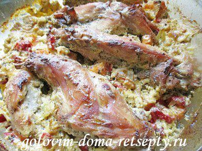кролик в сметане в духовке рецепт 16