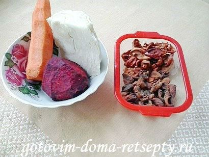 салат щетка рецепт с сухофруктами 1
