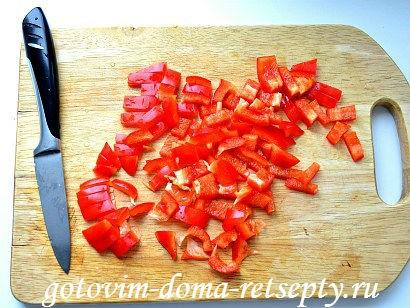 теплый салат с баклажаном и перцами 2