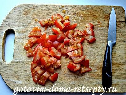 теплый салат с баклажаном и перцами 7