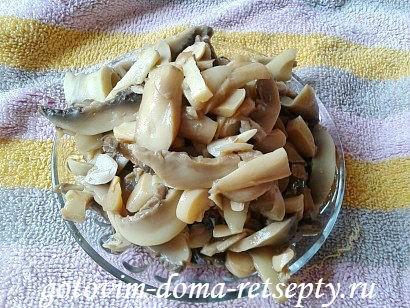 курица с грибами сыром и помидорами 4