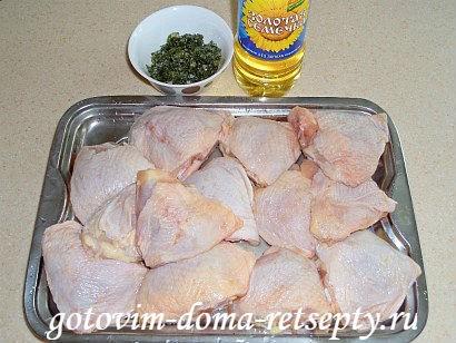 курица тушеная с чесноком 1