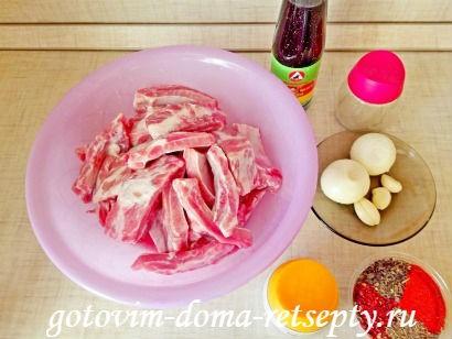 свиные ребрышки с соевым соусом 2