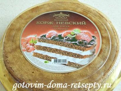 бисквитный торт очень вкусный и простой рецепт 3