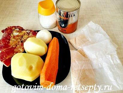 гороховый суп с копчеными ребрышками рецепт с фото 1