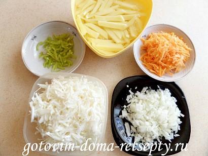 овощное рагу с мясом, картошкой и капустой 4