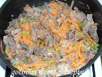 овощное рагу с мясом, картошкой и капустой 7