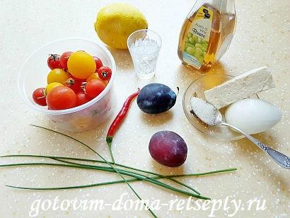 салат с брынзой и помидорами рецепт с фото 1