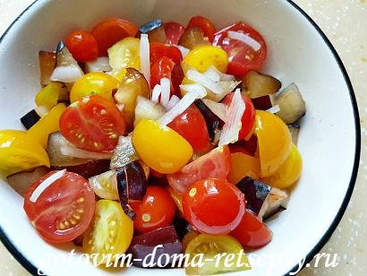 салат с брынзой и помидорами рецепт с фото 14