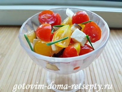 салат с брынзой и помидорами рецепт с фото 17