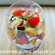 салат с брынзой и помидорами рецепт с фото 18