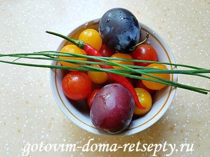 салат с брынзой и помидорами рецепт с фото 2